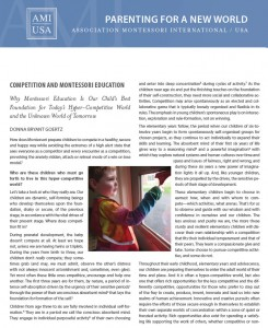 AMI - Competition and Montessori Education